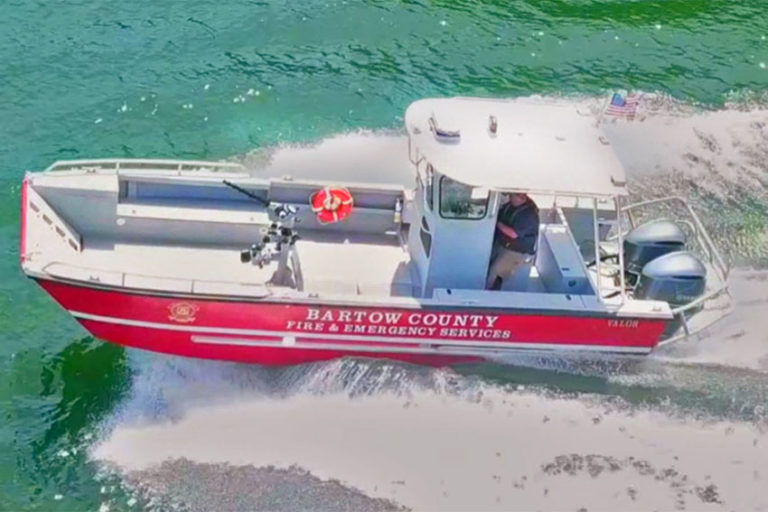 Lake Assault Boats Delivers Custom Fireboat to Bartow County (GA) Fire Department