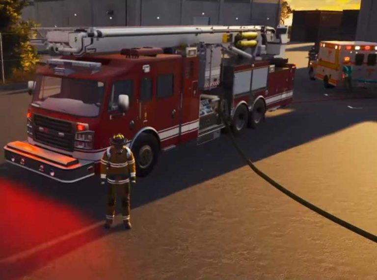 Firefighter Simulation Includes Officially Licensed Rosenbauer America Firefighting Vehicles
