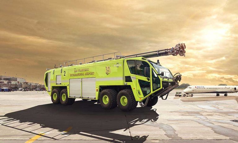 San Francisco (CA) Fire Department Airport Division Takes Delivery of Three Oshkosh Striker 8×8 ARFF Vehicles