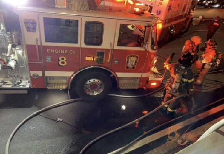 DC firefighter critically injured after being struck by