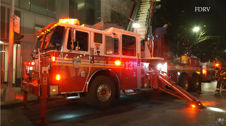 FDNY L.13 Calls in Fire Next to Firehouse