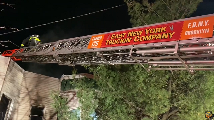 FDNY Brooklyn Fire Truck Ladder