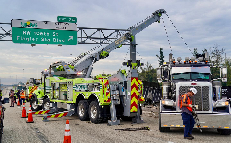 Miami Dade Heavy Wrecker Used in Complex Extrication